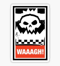 Warhammer 40k Inspired - Ork Waaagh! Sticker