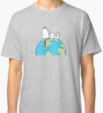 The Peanuts - Snoopy Earth Classic T-Shirt