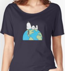The Peanuts - Snoopy Earth Women's Relaxed Fit T-Shirt