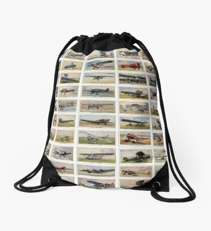 Luxury and personal airplanes from 1930s. Collection of 50  Drawstring Bag