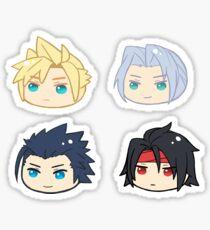 Final Fantasy 7 Cloud Strife Sephiroth Zack Fair Vincent Valentine Sticker