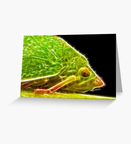 Green Hopper F Greeting Card