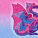 Bi Pride Dragon by Markaleb