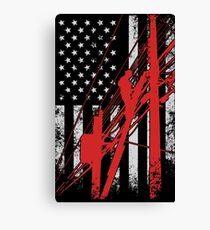 Lineman Distressed American Flag Gifts Canvas Print