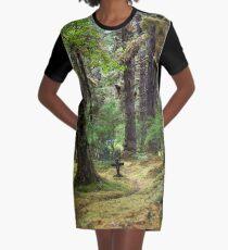 Memory Trail Graphic T-Shirt Dress