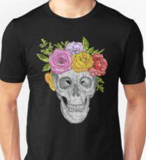 Skull Flowers Unisex T-Shirt