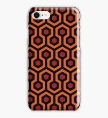 Overlook Hotel Carpet from The Shining: Orange/Red iPhone Case/Skin
