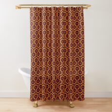 Overlook Hotel Carpet from The Shining: Orange/Red Shower Curtain