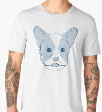 Frenchie - Single Image - Blue Men's Premium T-Shirt