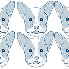 blue frenchie pattern by giannameola