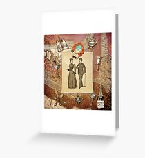 Vintage Collage - Happy Couple  Greeting Card