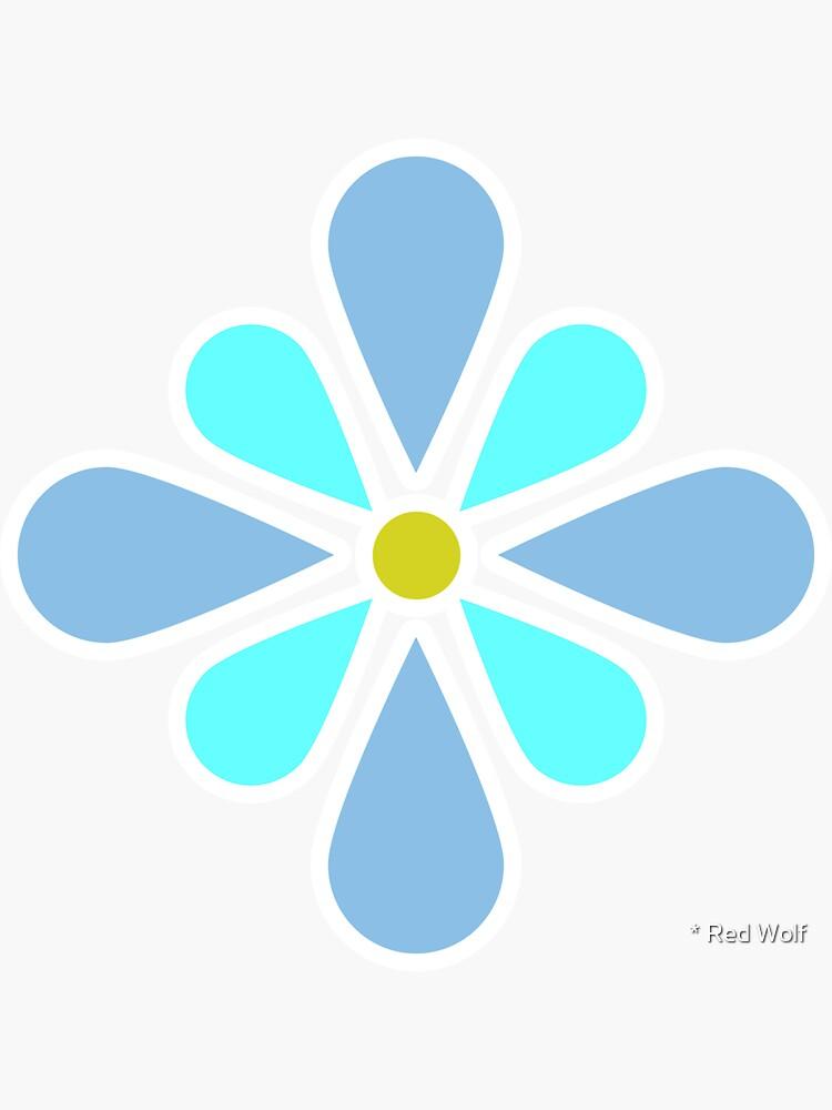 Pastel Blue Flower by redwolfoz
