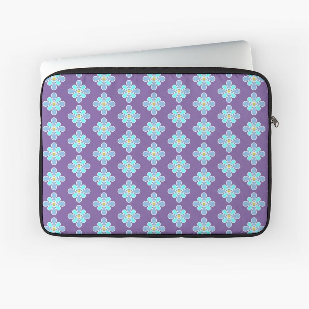 Pastel Blue Flower Laptop Sleeve