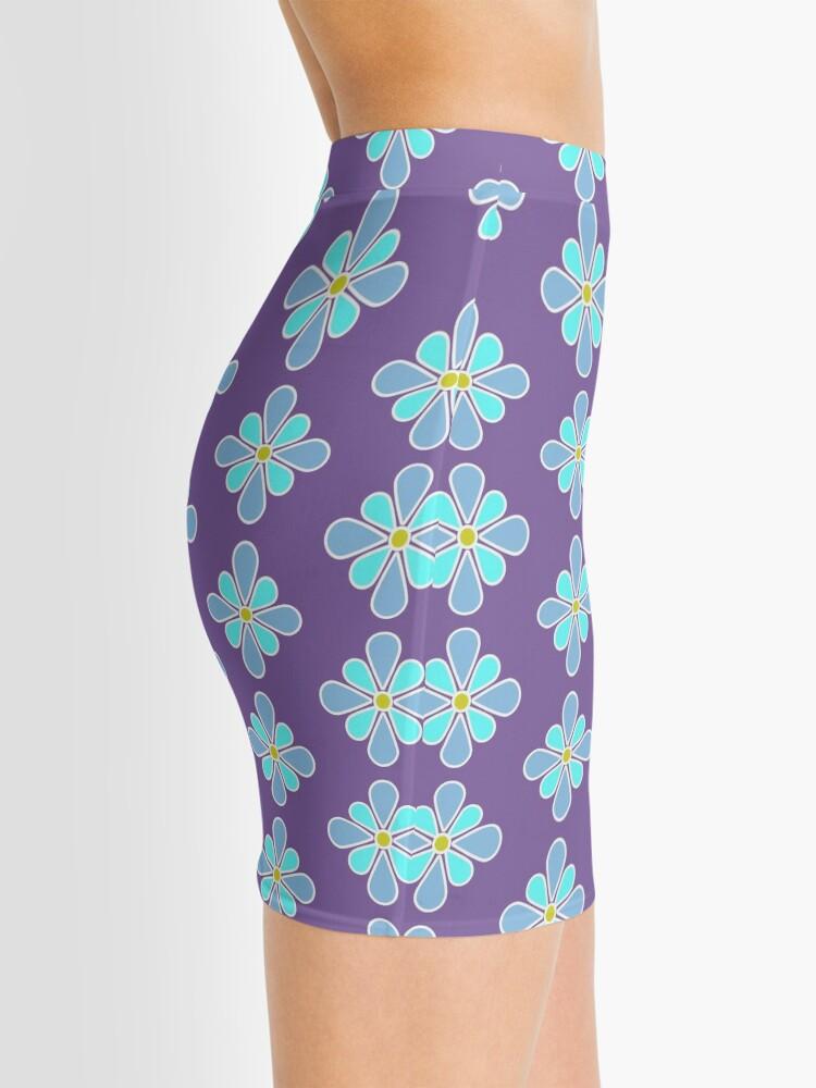 Alternate view of Pastel Blue Flower Mini Skirt