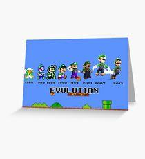 The Evolution of Luigi Greeting Card