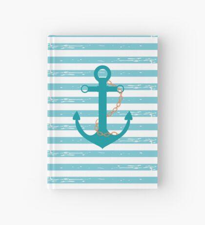 AFE Nautical Teal Ship Anchor Hardcover Journal