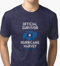 Official Survivor Hurricane Harvey Texas  Tri-blend T-Shirt