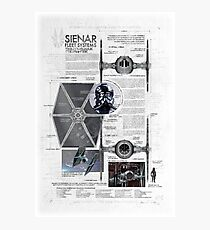 Twin Ion Engine (TIE) Fighter Photographic Print