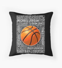 GREATEST BASKETBALL PLAYER OF ALL TIME Throw Pillow