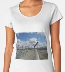 Barbed wire and sky Women's Premium T-Shirt