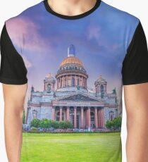 St. Isaac's Cathedral in St. Petersburg Graphic T-Shirt
