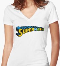 Super Mario Women's Fitted V-Neck T-Shirt