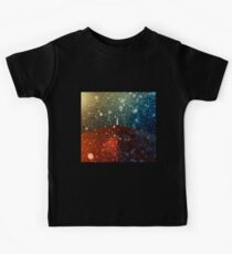 Red umbrella in snowstorm Kids Tee