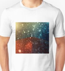Red umbrella in snowstorm T-Shirt