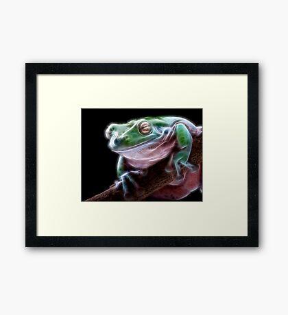 Electric Frog Framed Print