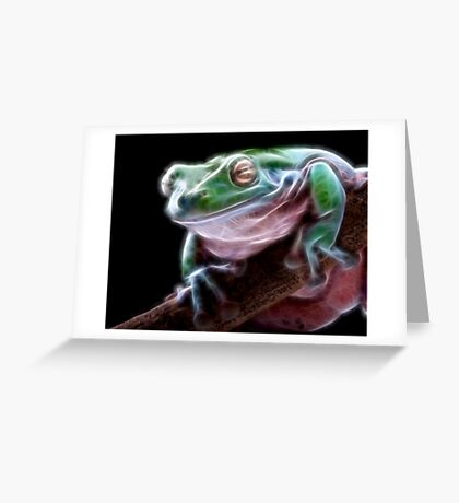 Electric Frog Greeting Card
