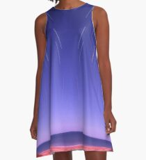 Star trails on Kimberley coast abstract A-Line Dress