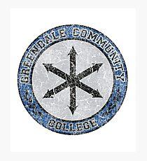 Greendale Community College's New Logo (Community) Photographic Print