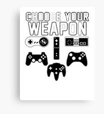 I Paused My Game To Be Here Video Game Funny Adult Mens Graphic Tee Pun Gamer T-Shirt Canvas Print