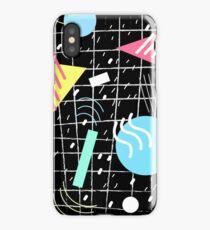 Memphis Style Vibes (Dark) iPhone Case/Skin