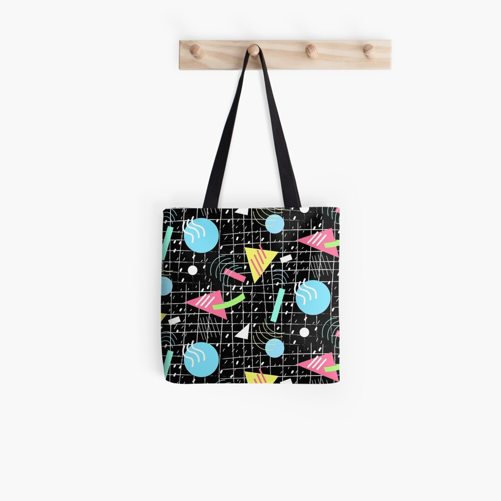 Memphis Style Vibes (Dark) Tote Bag