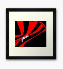 Laced up in Black and Red Framed Print