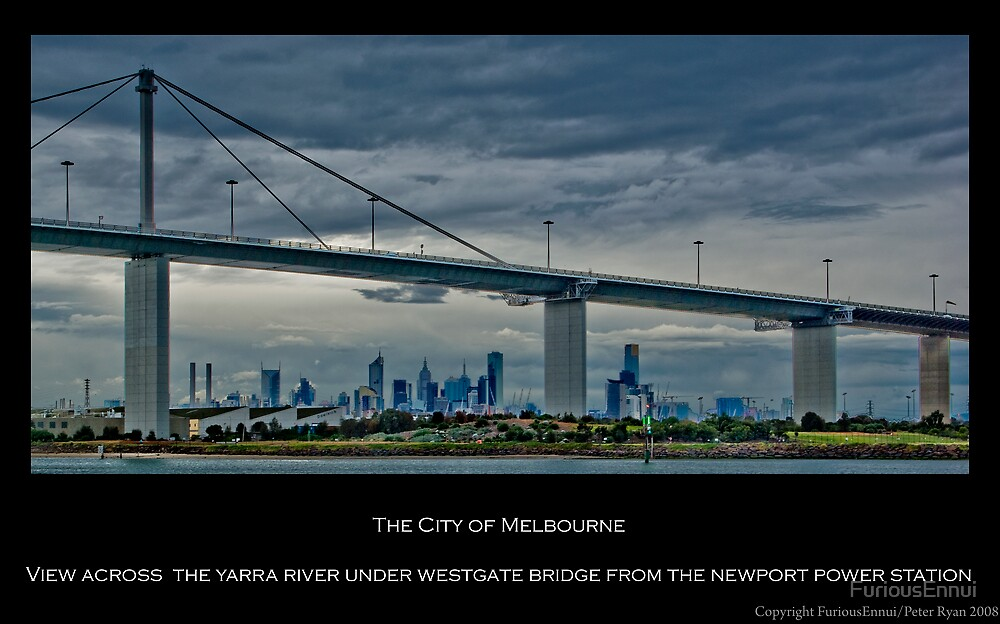 Melbourne & Westgate Bridge by FuriousEnnui