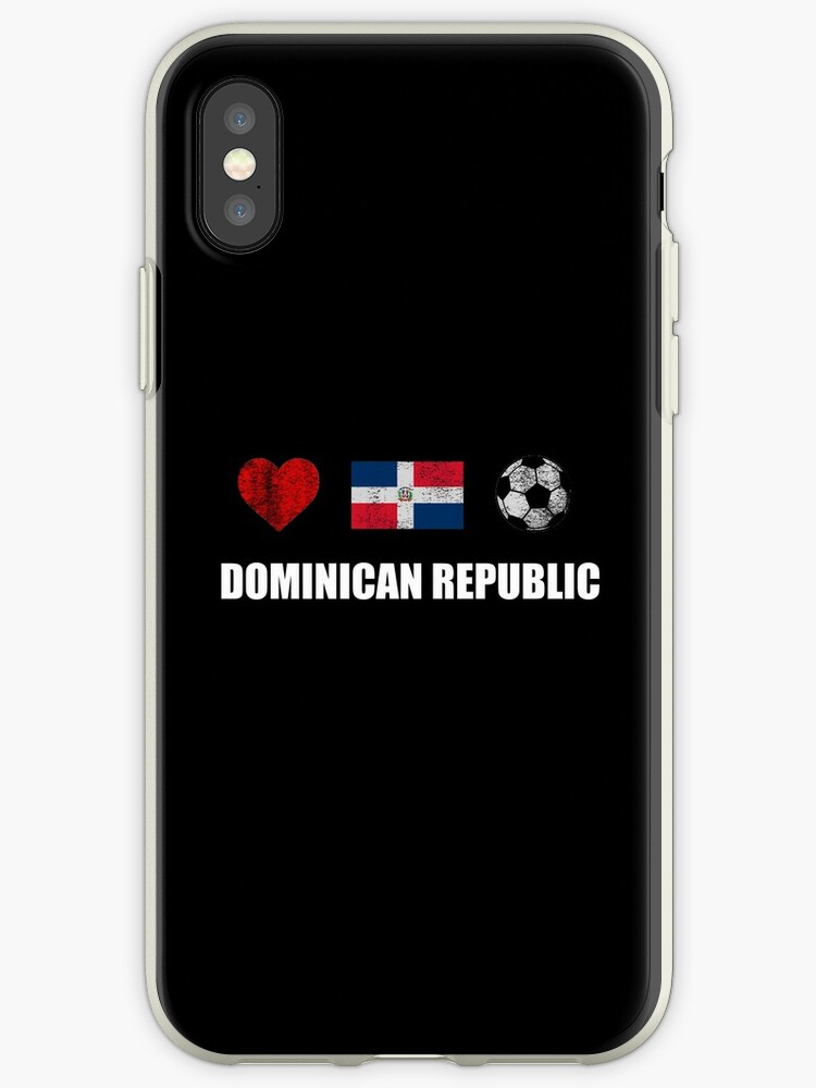 new concept 395bc b8ab2 'Dominican Republic Football Shirt - Dominican Republic Soccer Jersey'  iPhone Case by ozziwar
