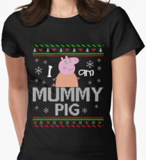 Peppa Pig, Mummy Pig, I Am Mummy Pig Women's Fitted T-Shirt
