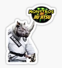 Monstros do Jiu Jitsu Rinoceronte Sticker