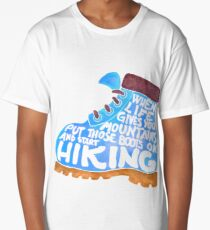Hiking Boot - Blue Long T-Shirt