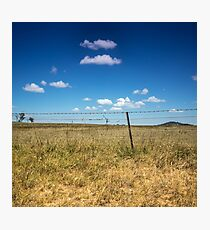 Golden Grass and Blue Skies Photographic Print