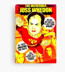 The Incredibel Joss Whedon Canvas Print
