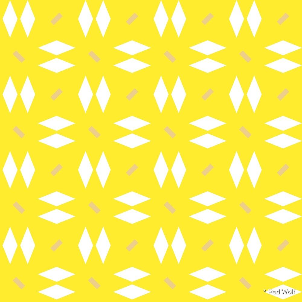 Geometric Pattern: Double Diamond Dash by * Red Wolf