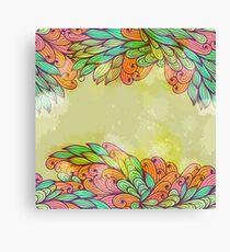 Hand drawn seamless floral grunge design Canvas Print