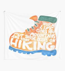 Hiking Boot Wall Tapestry