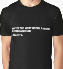 What is the most used language in programming? Graphic T-Shirt