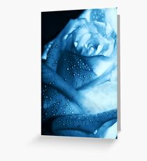 Ice Blue Rose Tears Greeting Card