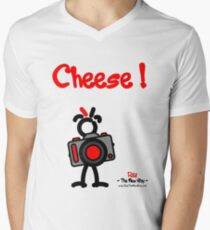 Red - The New Guy - Cheese ! Men's V-Neck T-Shirt