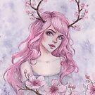 Cherryblossom Antlers by ARiAillustr